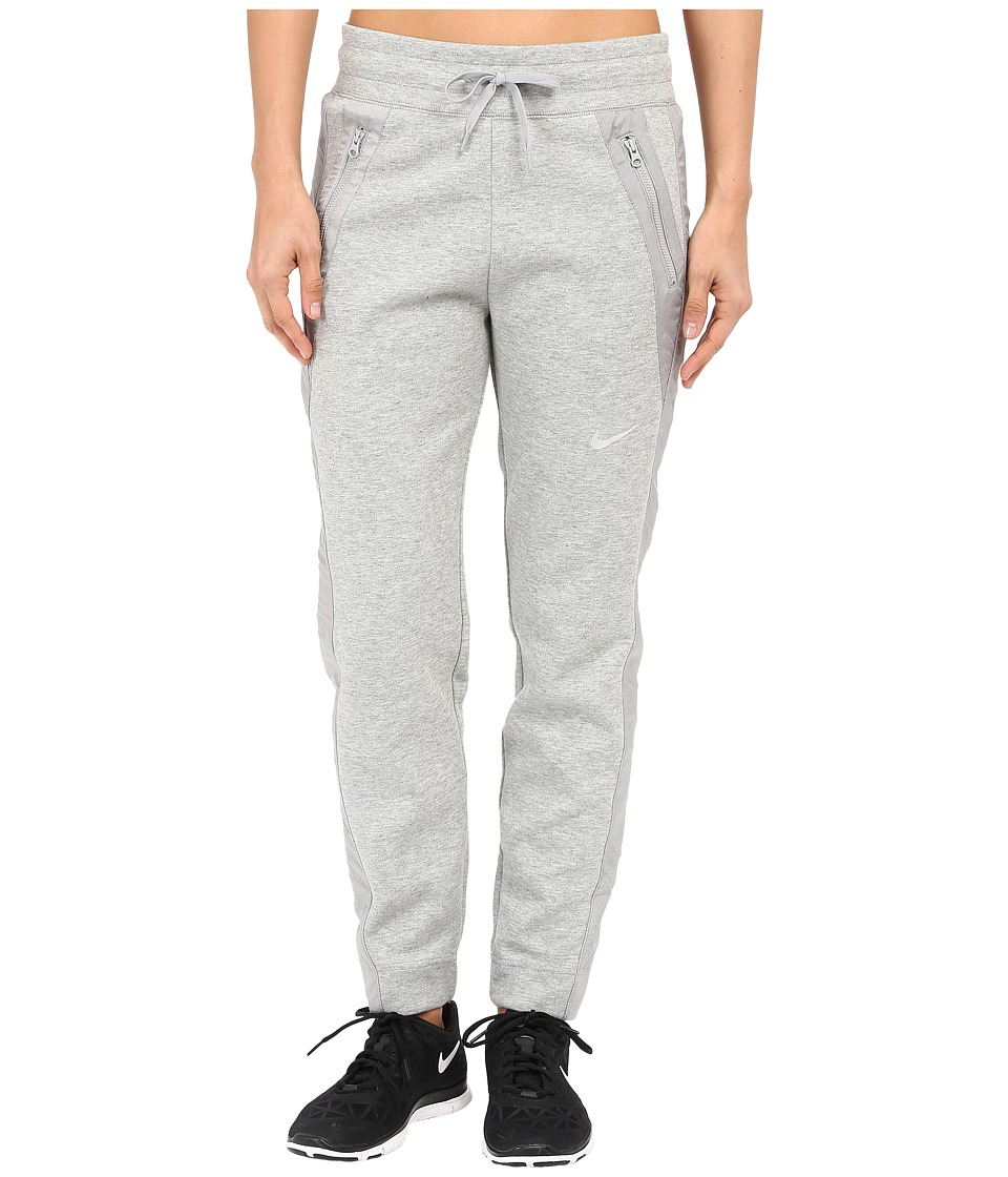Nike - Advance 15 Fleece Pants (Dark Grey Heather/Matte Silver/Matte Silver/White) Women's Casual Pants