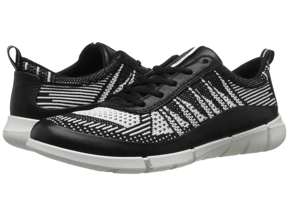 ECCO Sport - Intrinsic Knit (Black/White) Women's Walking Shoes