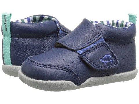 Carters - Every Step Bobby Stage 2 (Navy/Plaid) Boys Shoes