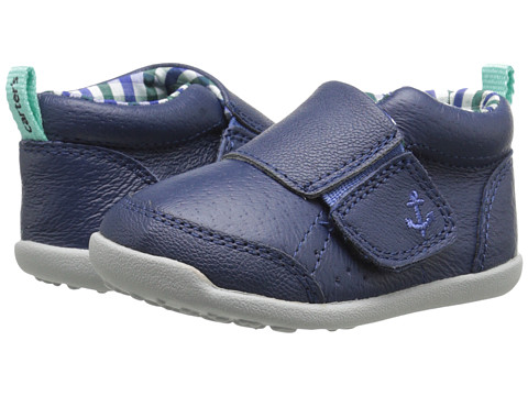 Carters - Every Step Charlie Stage 3 (Navy/Plaid) Boy's Shoes