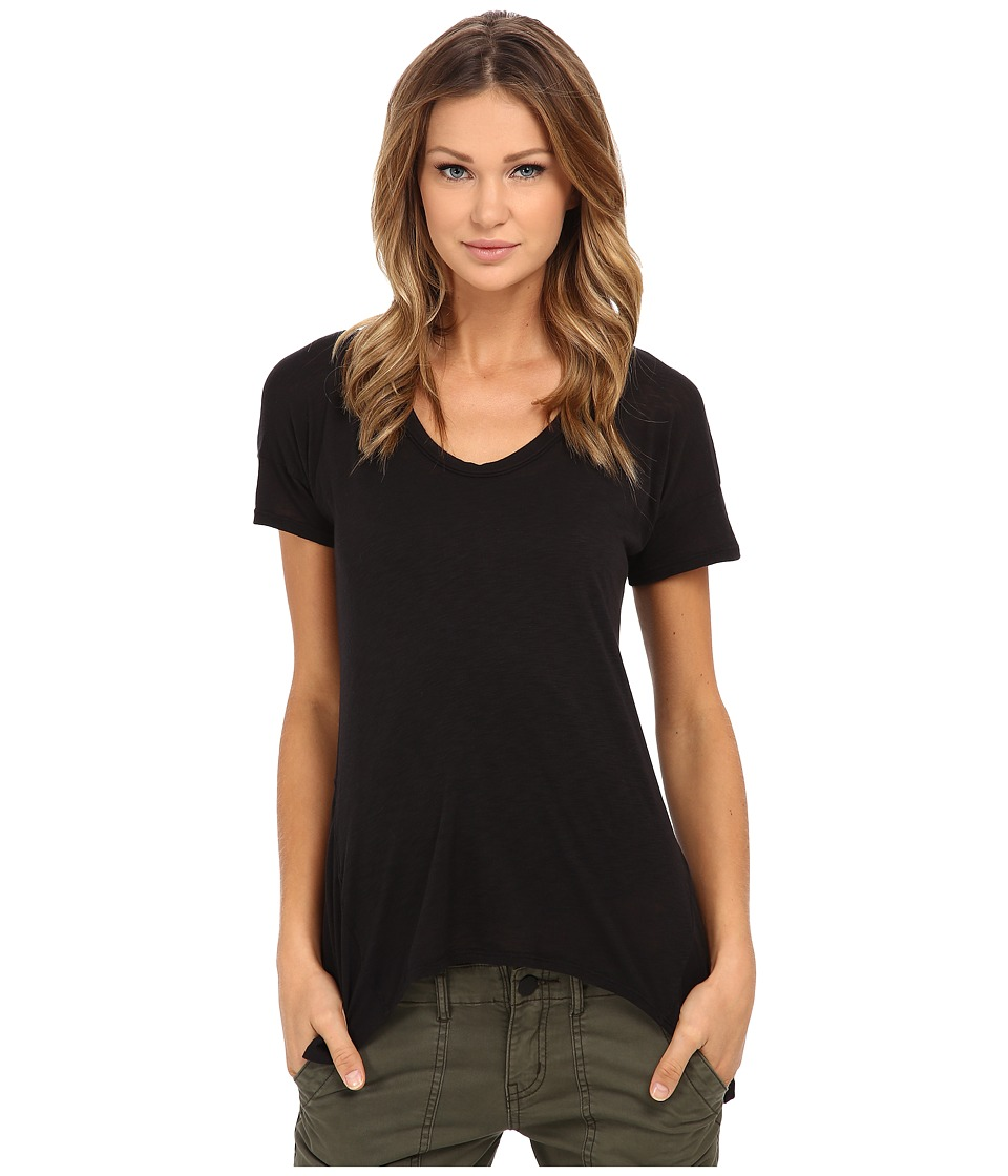 Splendid Slub Jersey Swing Tee (Black) Women