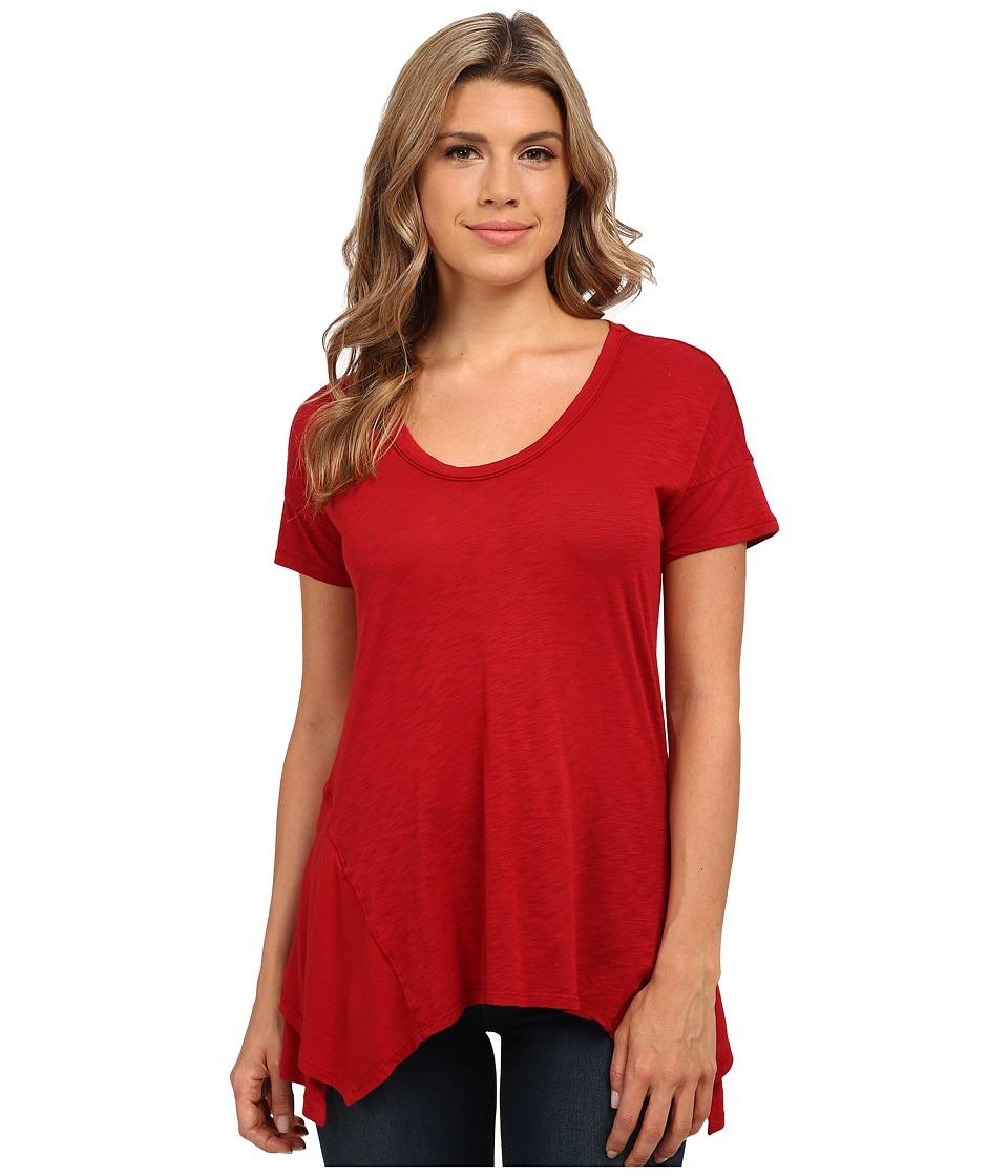 Splendid - Slub Jersey Swing Tee (Cranberry) Women's T Shirt