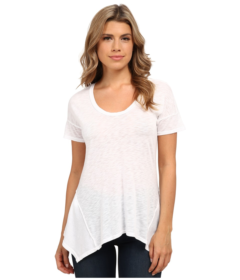 Splendid Slub Jersey Swing Tee (White) Women