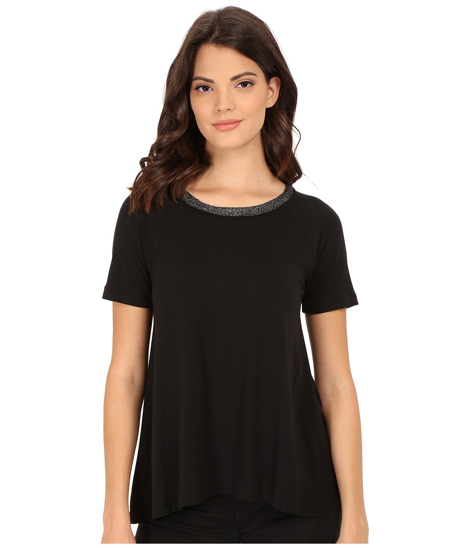 Splendid - Tencel Jersey Tee (Black) Women's T Shirt