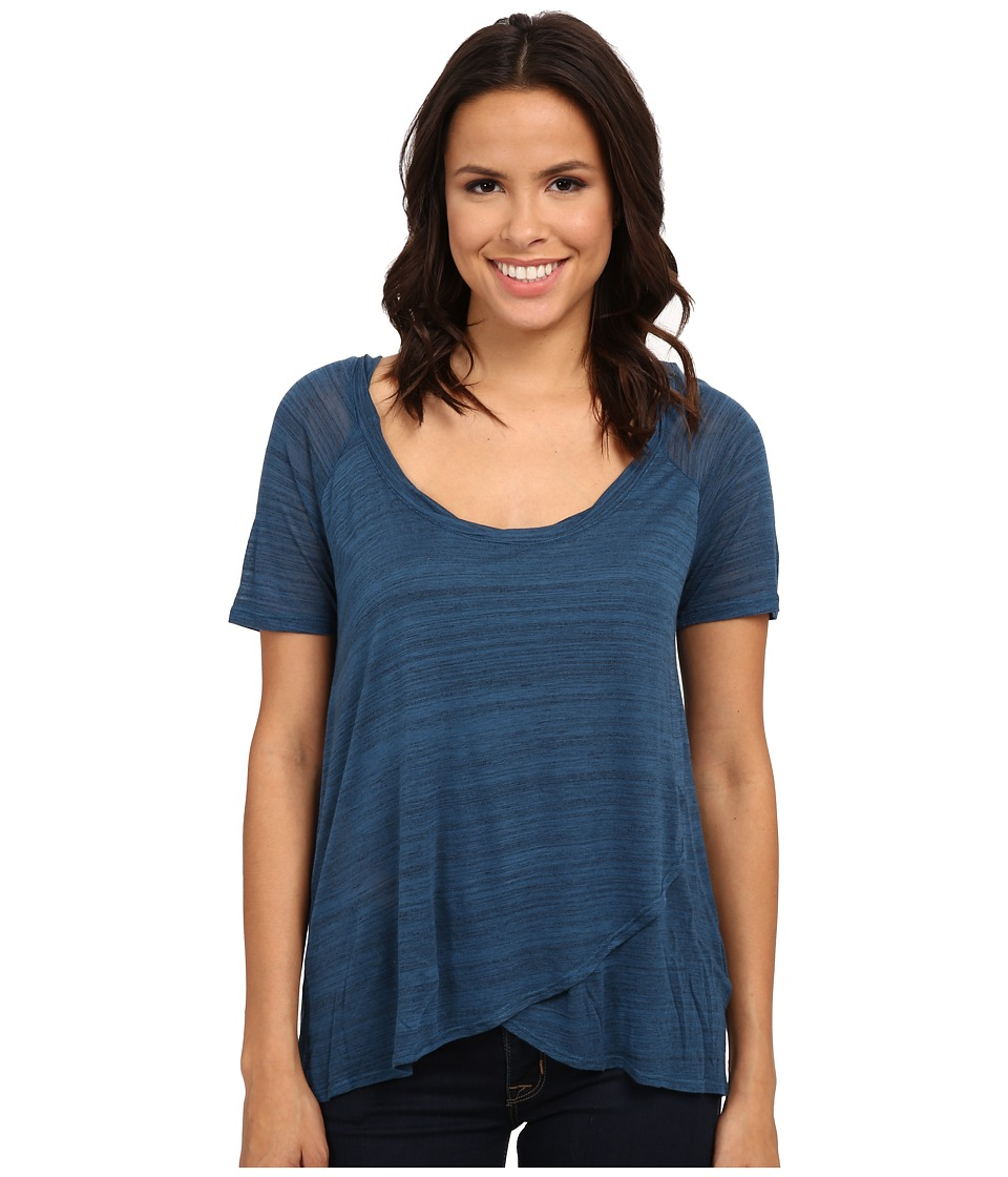 Splendid Space Dye Luxe Jersey Tee (Deep Water) Women