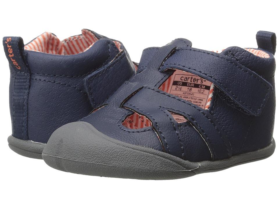 Carters - Astor-P2 (Infant) (Navy/Orange) Boy's Shoes