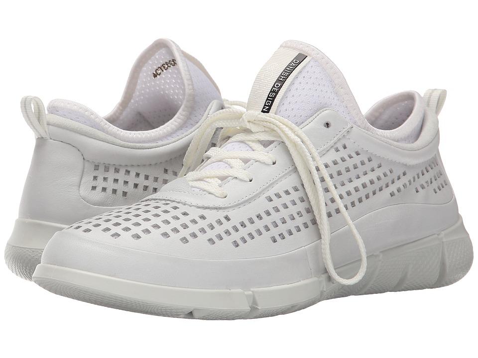 Ecco Performance - Intrinsic Sneaker (White/White) Women's Walking Shoes