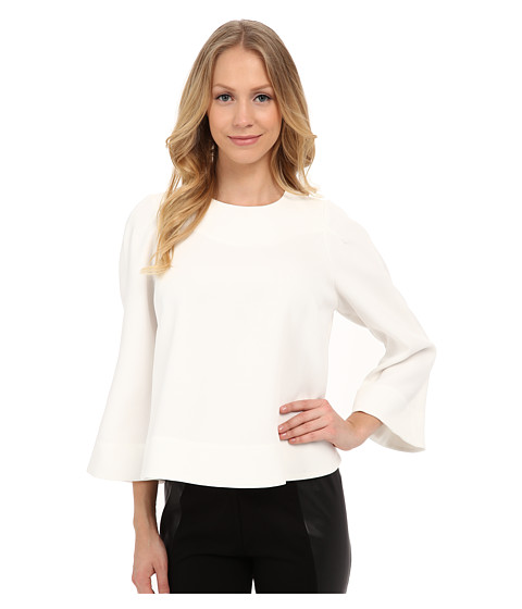 Adrianna Papell - Draped Wide Sleeve Top (Ivory) Women's Blouse