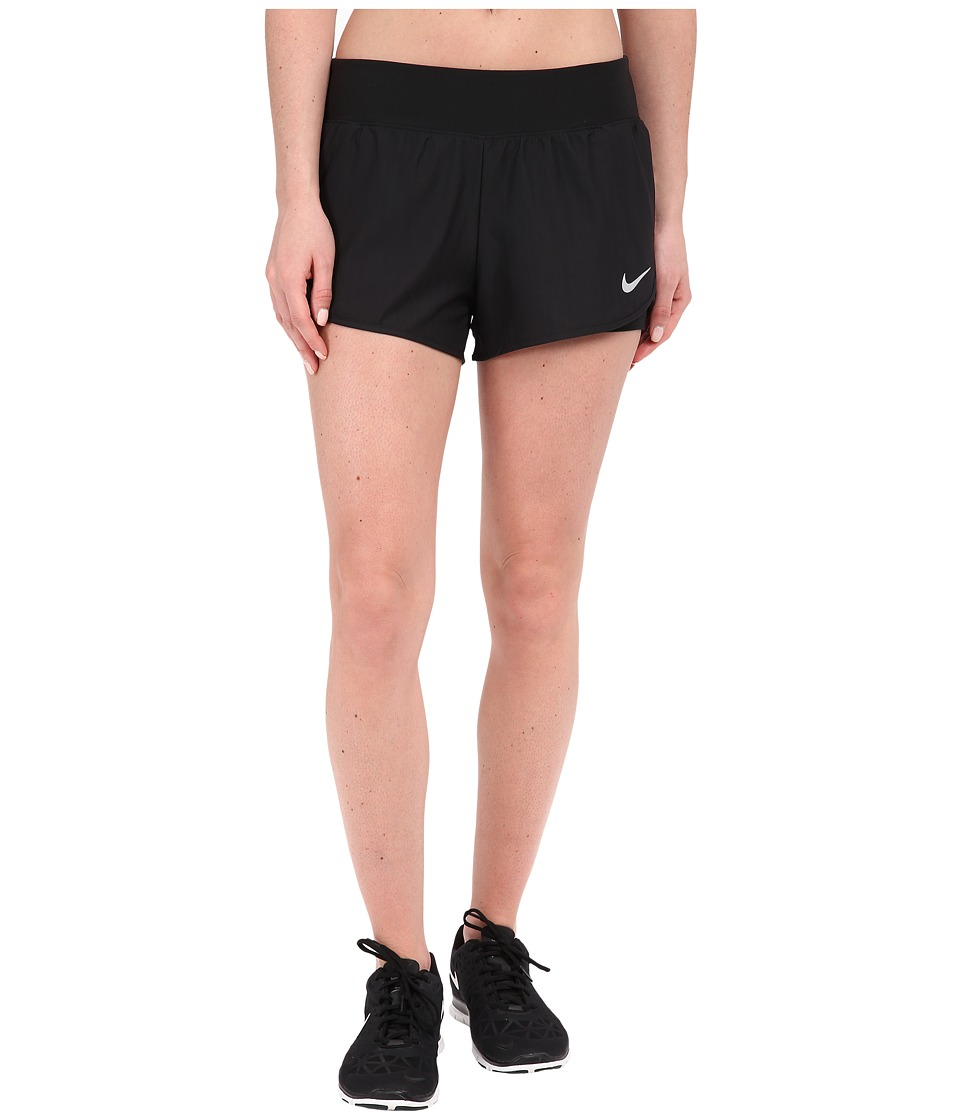 Nike - Court Ace Tennis Short (Black/White) Women's Shorts