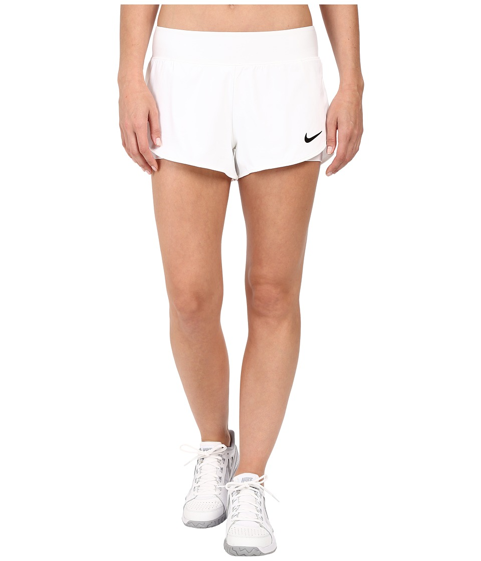 Nike - Court Ace Tennis Short (White/Black) Women's Shorts