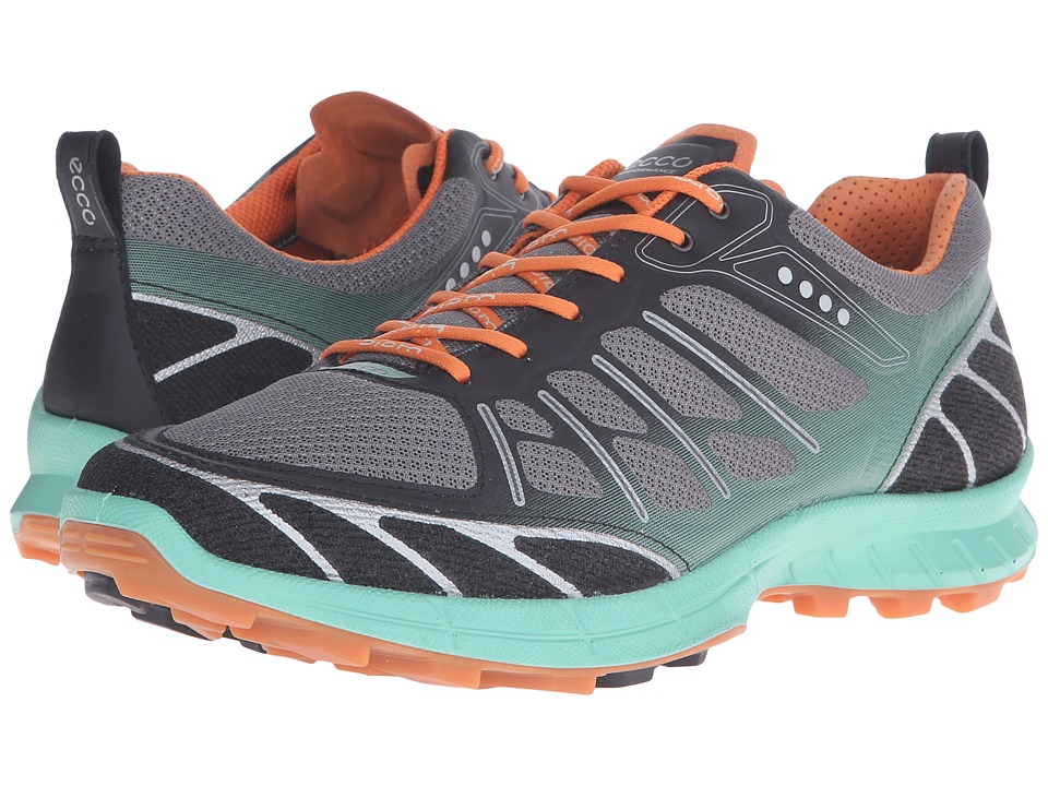 ECCO Sport - Biom Trail Sport (Black/Granite Green/Orange) Women's Shoes