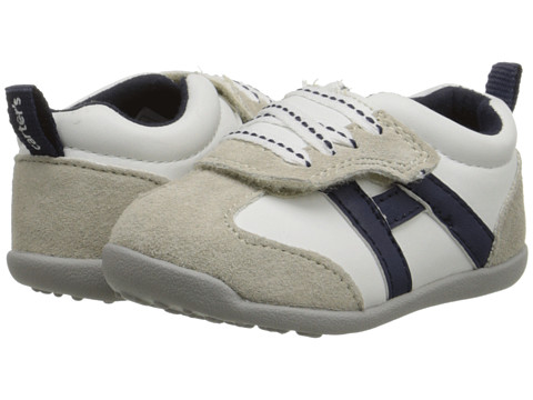 Carters - Oldie-BW (Toddler) (White) Boy's Shoes