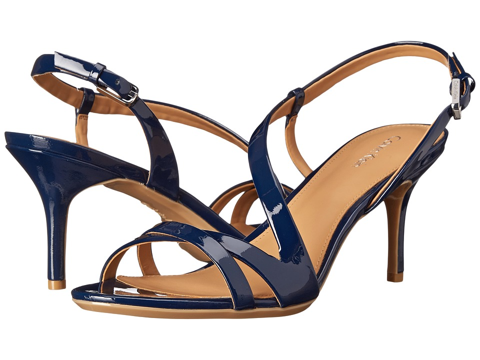 Calvin Klein - Lorren (Navy Patent) Women's Dress Sandals