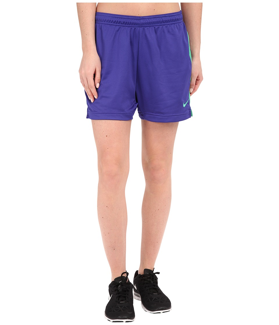 Nike - Dri-FIT Academy Knit Shorts (Deep Night/Spring Leaf/Spring Leaf) Women's Shorts