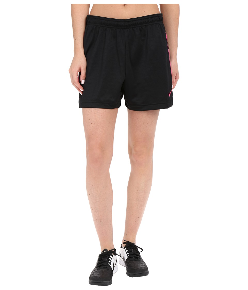 Nike - Dri-FITtm Academy Knit Shorts (Black/Vivid Pink/Vivid Pink) Women's Shorts