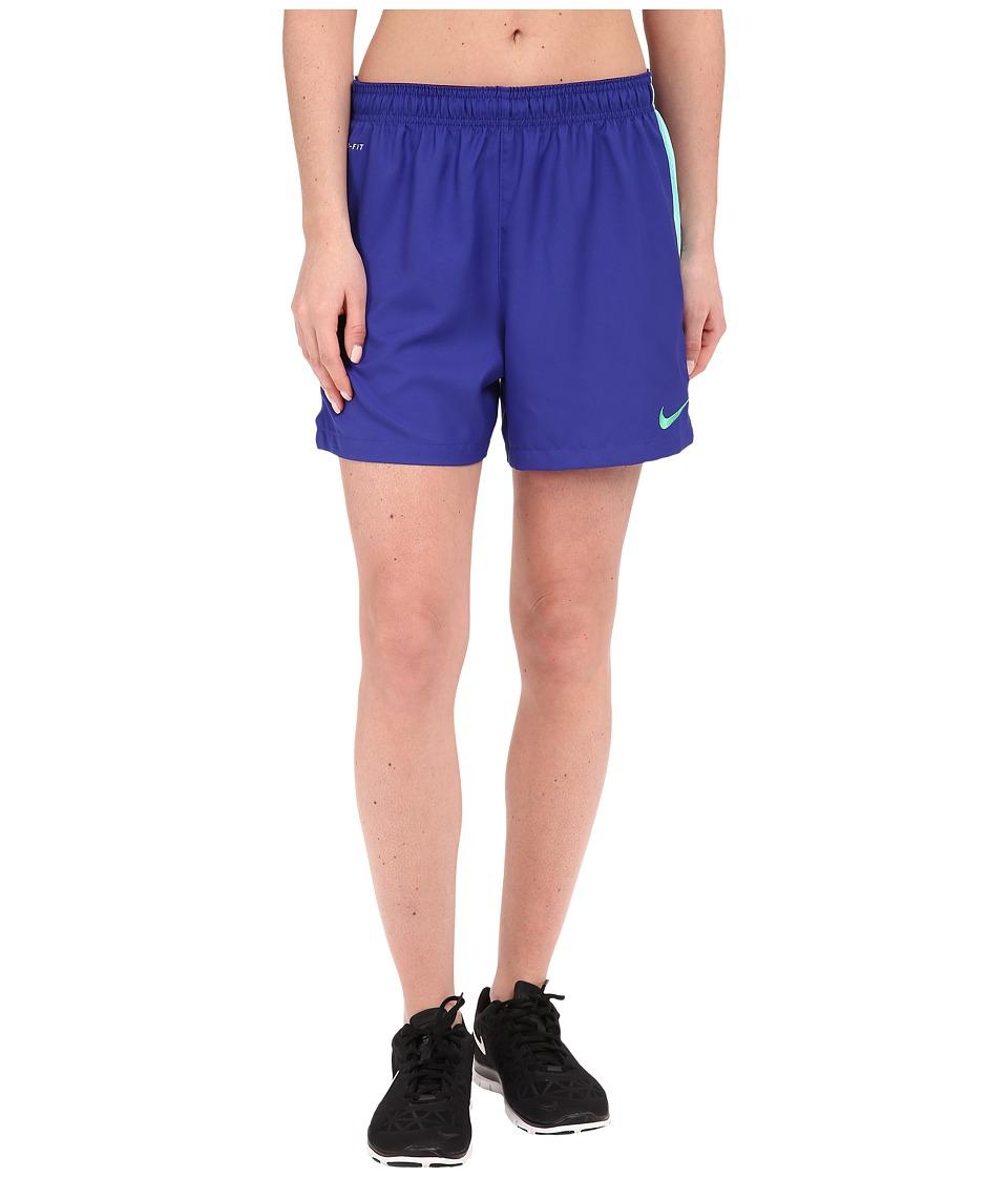 Nike Dri-FIT Squad Woven Short (Deep Night/Hyper Turquoise/Spring Leaf) Women