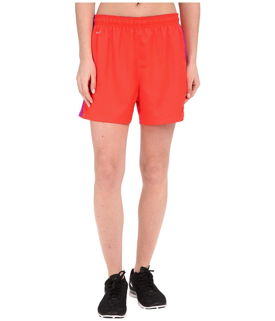 Nike Dri-FIT Squad Woven Short (Bright Crimson/Vivid Purple/University Red) Women