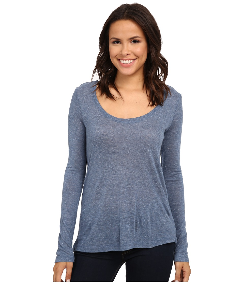 Splendid - Sparkle Jersey Scoop Neck (Chambray 2) Women's Clothing