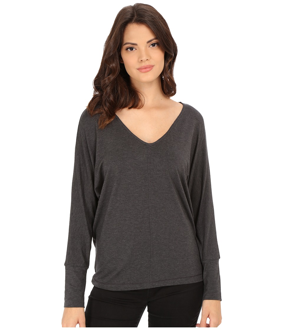 Splendid - Tencel Jersey Dolman (Charcoal) Women's Clothing