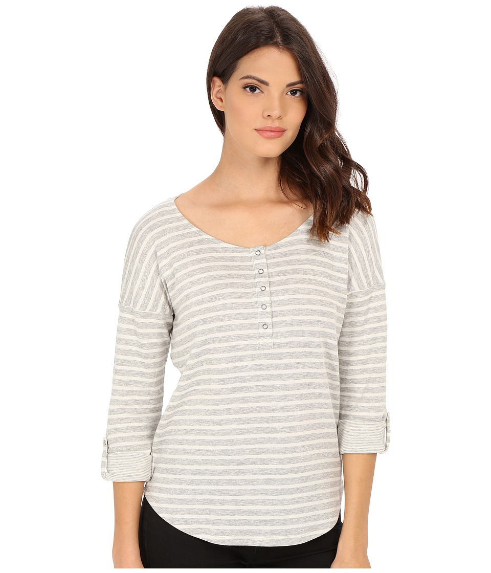 Splendid - Sierra Falls Stripe Henley (Heather Grey) Women's Clothing