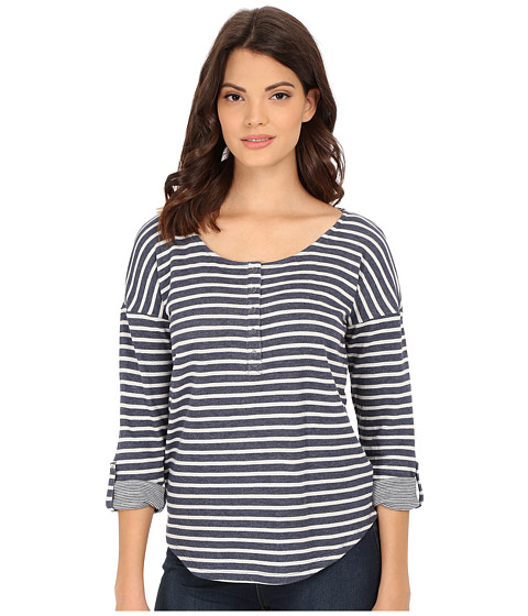 Splendid - Sierra Falls Stripe Henley (Navy) Women's Clothing