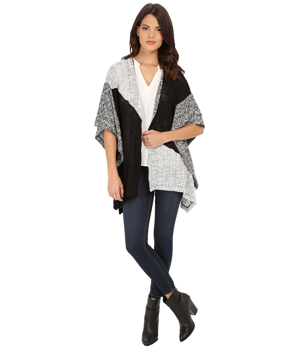 Splendid - Lake Front Loose Knit Wrap (Black) Women's Clothing