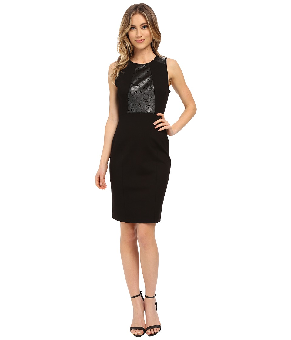 Adrianna Papell - Scoop Neck Bodycon Dress (Black) Women's Dress