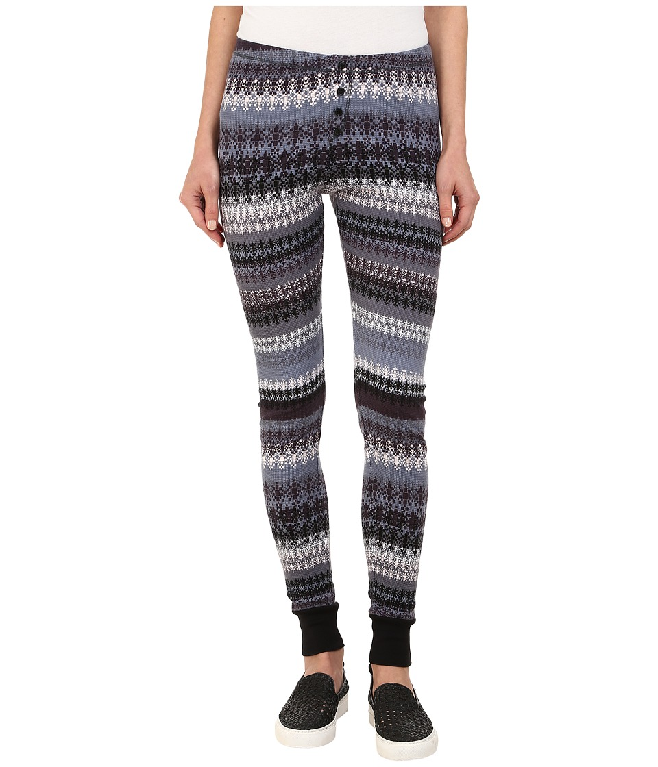 Splendid - Fairisle Leggings (Slate/Blanc) Women's Clothing