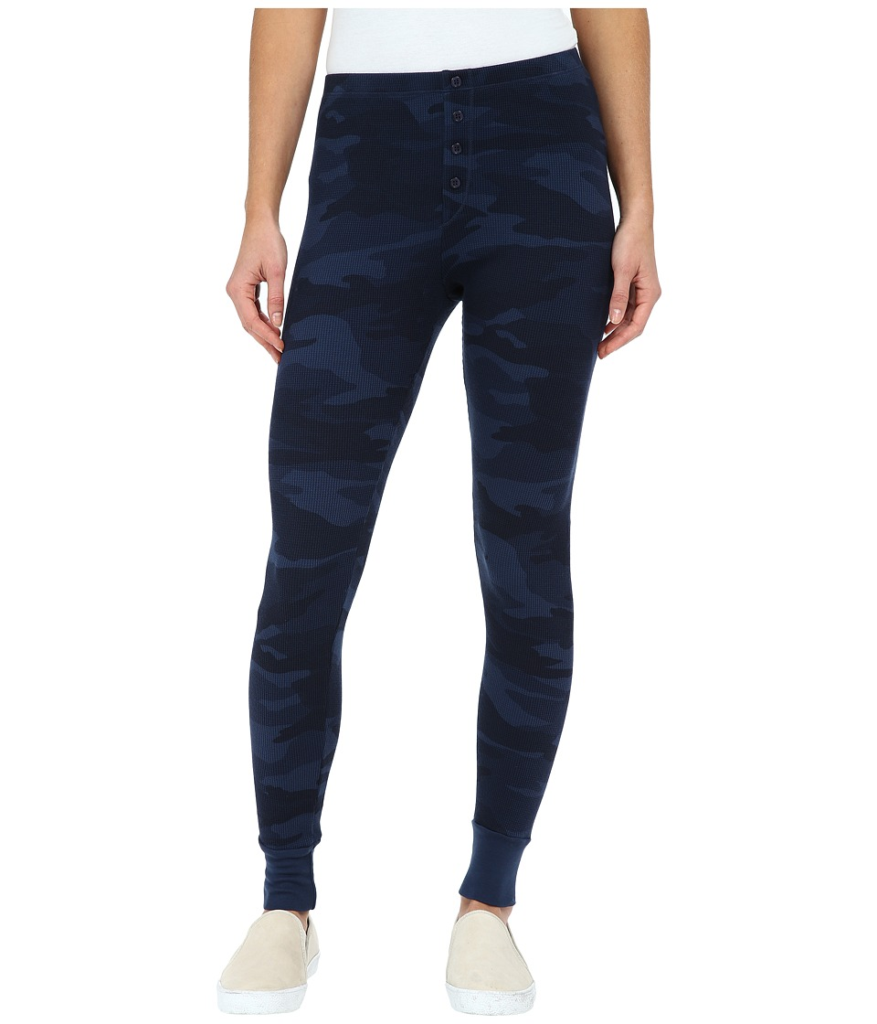 Splendid - Woodbury Camo Leggings (Navy) Women's Clothing