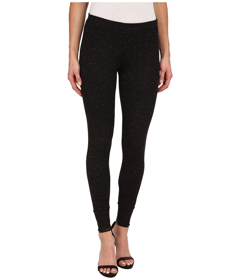 Splendid - Sparkle Rib Leggings (Black) Women's Clothing