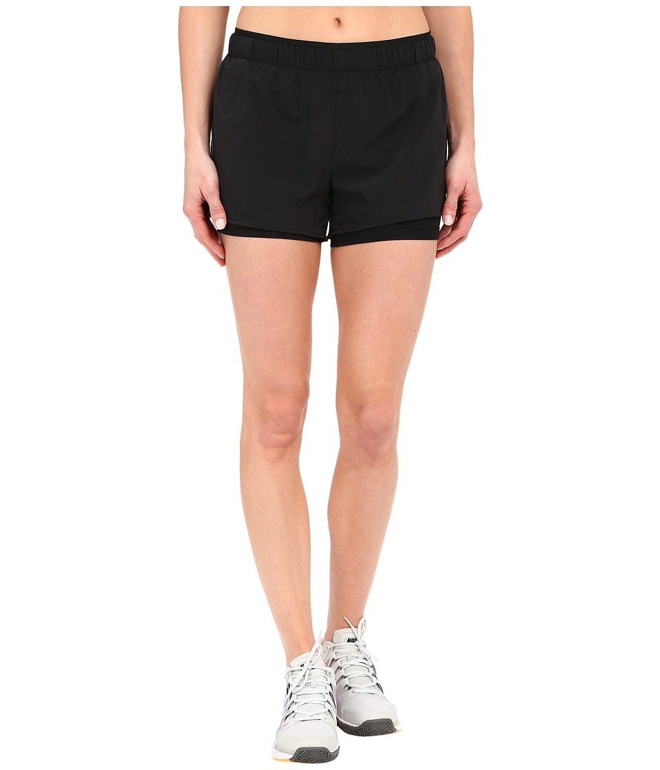 Nike - Full Flex 2-in-1 2.0 Shorts (Black/Black/Black) Women's Shorts
