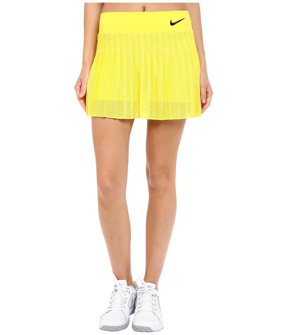 Nike - Court Victory Premier Tennis Skirt (Opti Yellow/Obsidian) Women's Skort