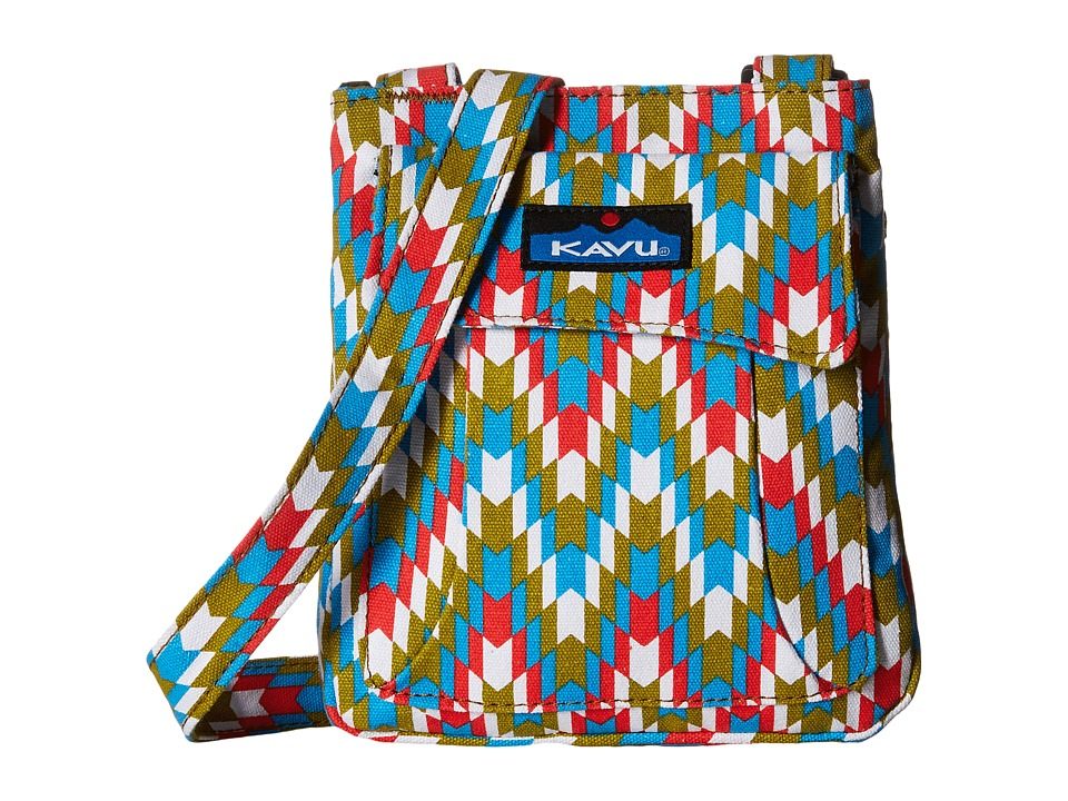 KAVU - Mini Keeper (Garden Tile) Cross Body Handbags