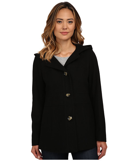Anne Klein - Hooded S/B Wool (Black) Women