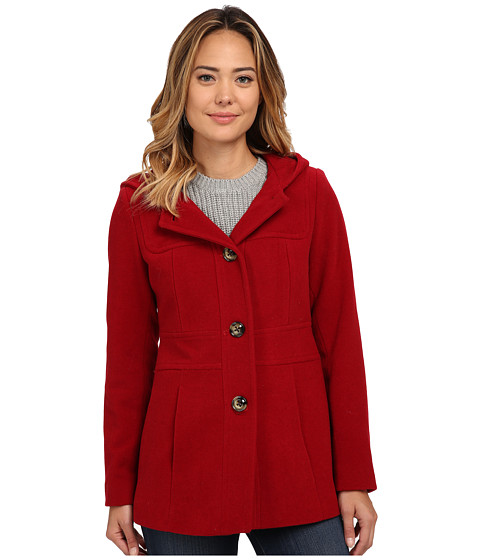 Anne Klein - Hooded S/B Wool (Red) Women's Clothing