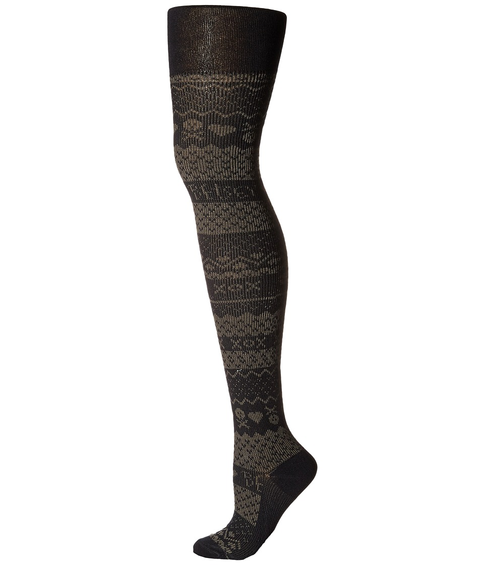 Betsey Johnson - Betsey's Fairisle Sweater Tights (Grey/Raven Black) Hose