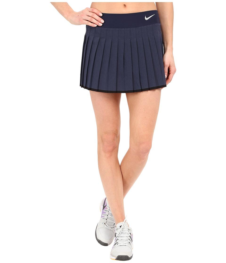 Nike Victory Skirt (Midnight Navy/Heather/White) Women
