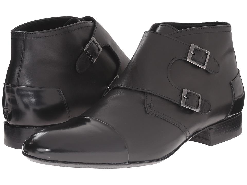 Massimo Matteo Double Monk Cap Toe Boot (Black) Men