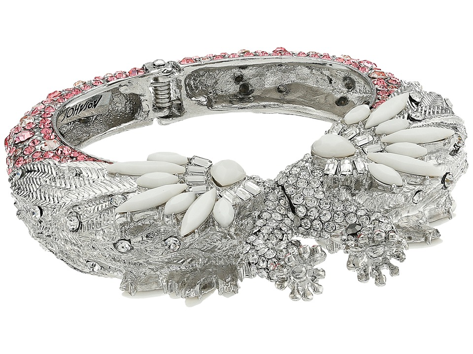 Betsey Johnson - Ballerina Rose Swan Hinge Bangle (Multi) Bracelet