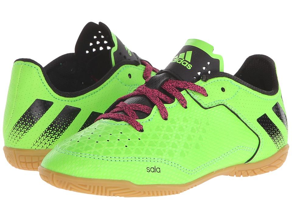 adidas Kids - Ace 16.3 CT Soccer (Little Kid/Big Kid) (Solar Green/Black/Shock Pink) Kids Shoes