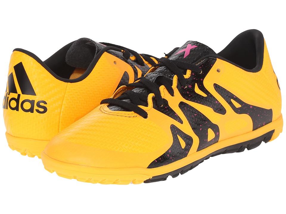 adidas Kids - X 15.3 TF (Little Kid/Big Kid) (Solar Gold/Black/Shock Pink) Kids Shoes