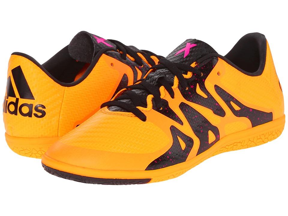 adidas Kids - X 15.3 IN Soccer (Little Kid/Big Kid) (Solar Gold/Black/Shock Pink) Kids Shoes