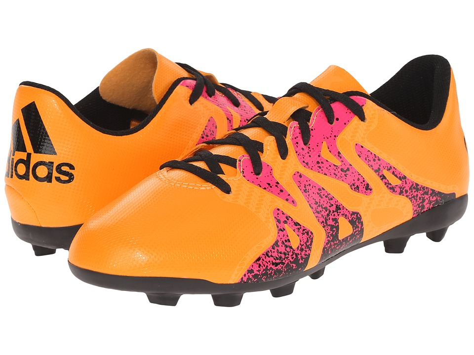 adidas Kids - X 15.4 FxG Soccer (Toddler/Little Kid/Big Kid) (Solar Gold/Black/Shock Pink) Kids Shoes
