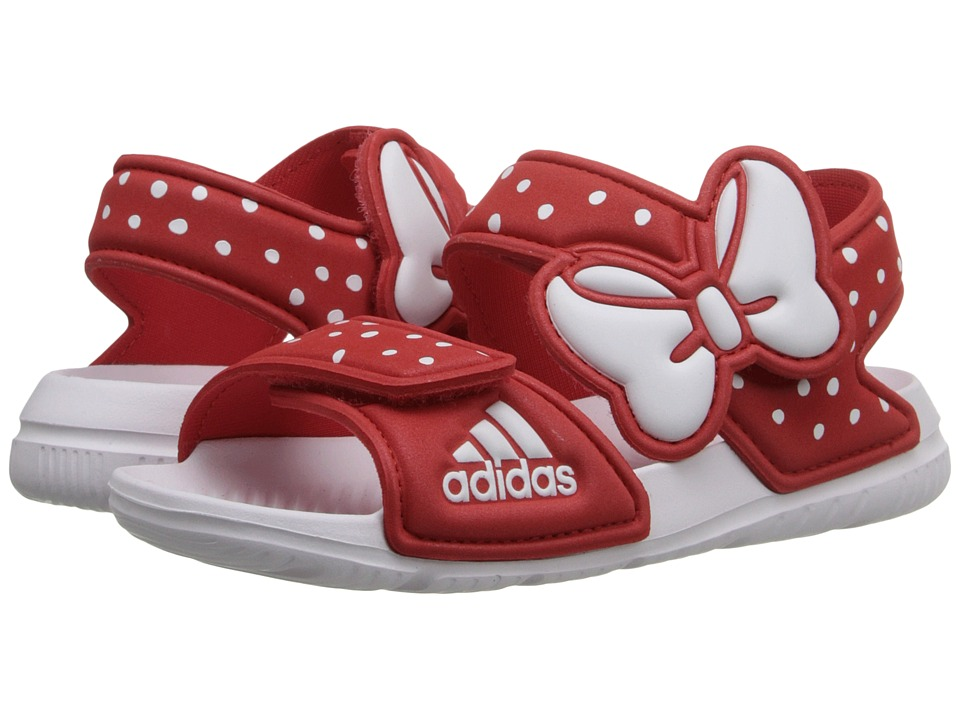adidas Kids - Disney Akwah 9 (Infant/Toddler) (Vivid Red/Footwear White/Footwear White) Girls Shoes
