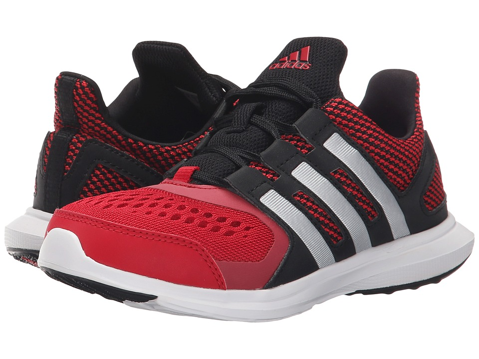 adidas Kids - Hyperfast 2.0 (Little Kid/Big Kid) (Black/Matte Silver/Power Red) Boys Shoes