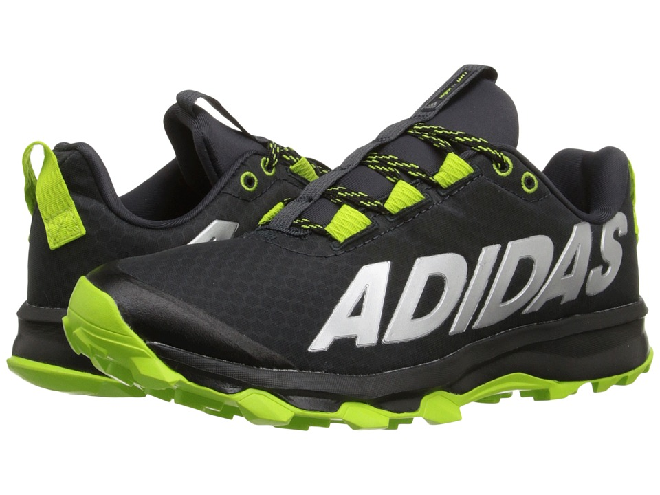 adidas Kids Vigor 6 TR (Little Kid/Big Kid) (Black/Semi Solar Slime/Dark Grey) Boys Shoes