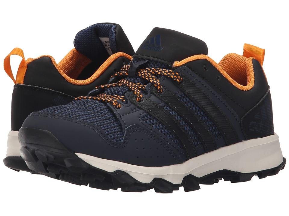 adidas Kids - Kanadia 7 TR (Little Kid/Big Kid) (Night Navy/Black/Equipment Orange) Boys Shoes