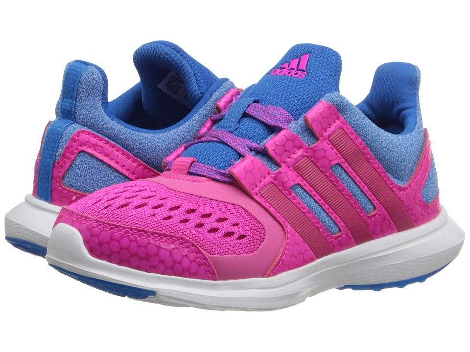 adidas Kids - Hyperfast 2.0 (Little Kid/Big Kid) (Shock Blue/Shock Pink/Bold Pink) Girls Shoes