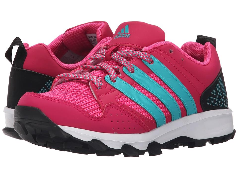 adidas Kids Kanadia 7 TR (Little Kid/Big Kid) (Bold Pink/Shock Green/Black) Girls Shoes