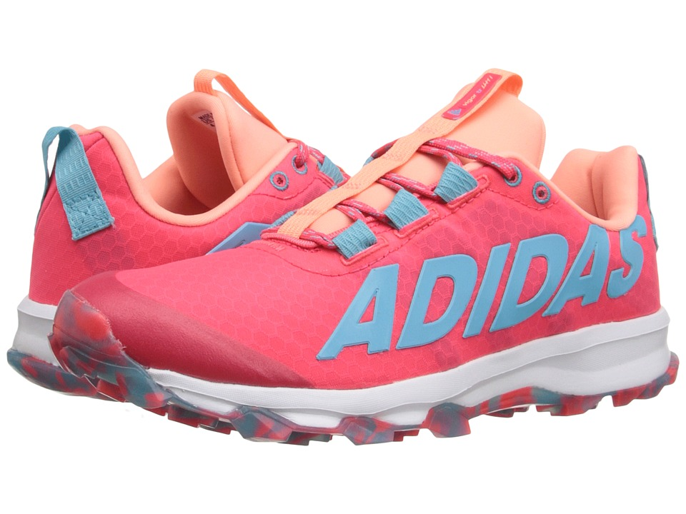 adidas Kids - Vigor 6 TR (Little Kid/Big Kid) (Pink/Blue Glow/Sun Glow) Girls Shoes